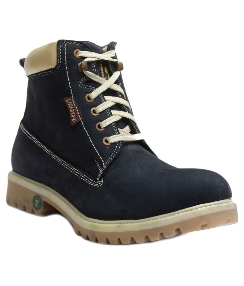 Tanny Shoes Blue Casual Boot