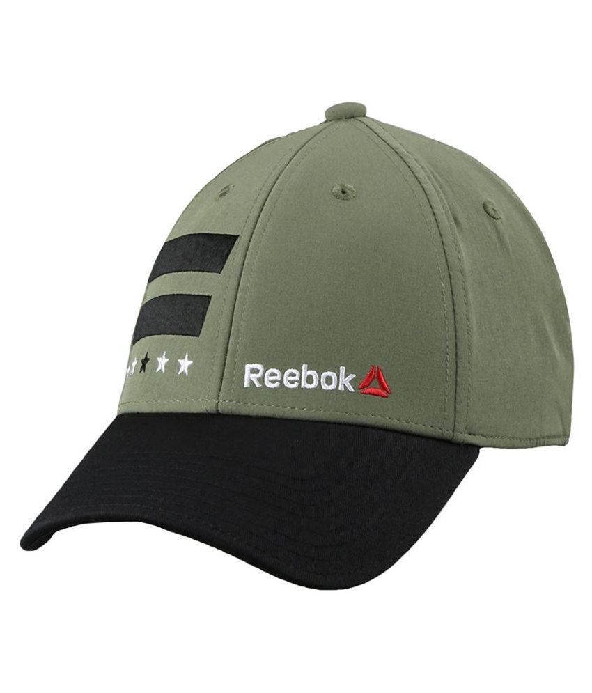 3631abb88ae Reebok Green Embroidered Polyester Caps - Buy Online   Rs.
