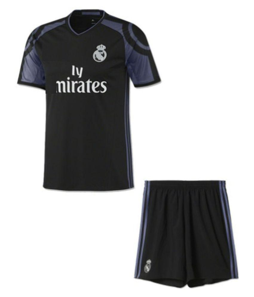 c3adcc1a Marex Real Madrid Black Football jersey: Buy Online at Best Price on  Snapdeal