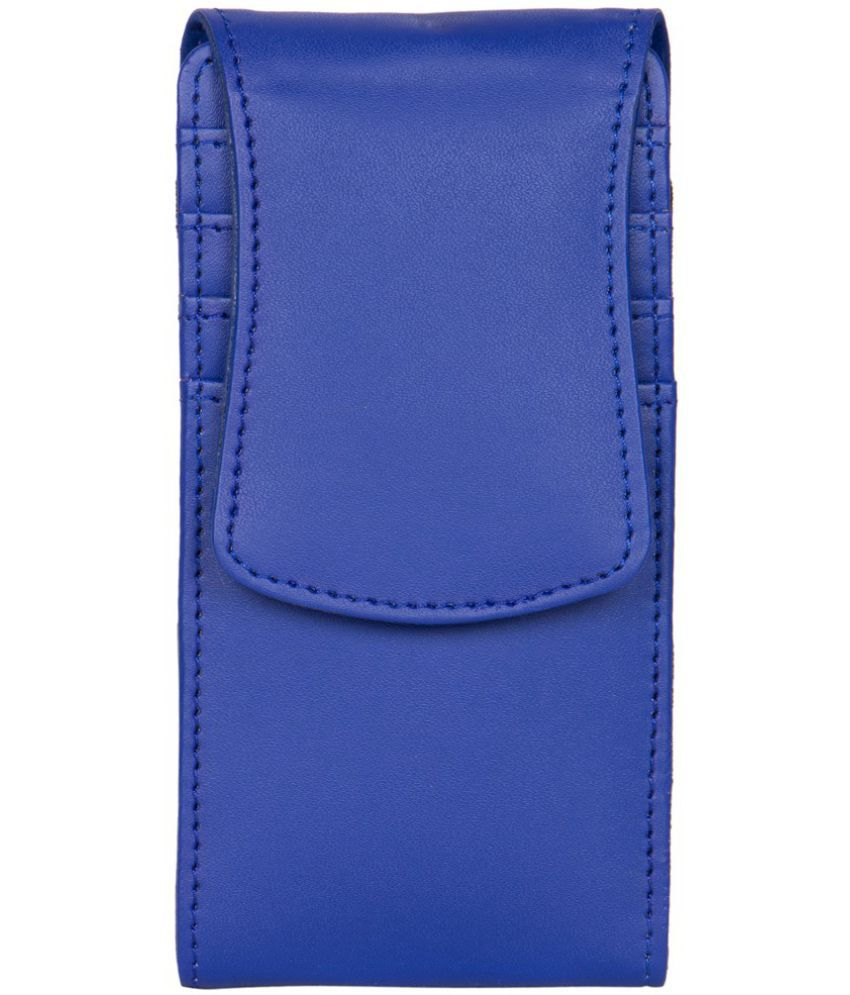 Micromax Bolt Q333 Holster Cover by Senzoni - Blue