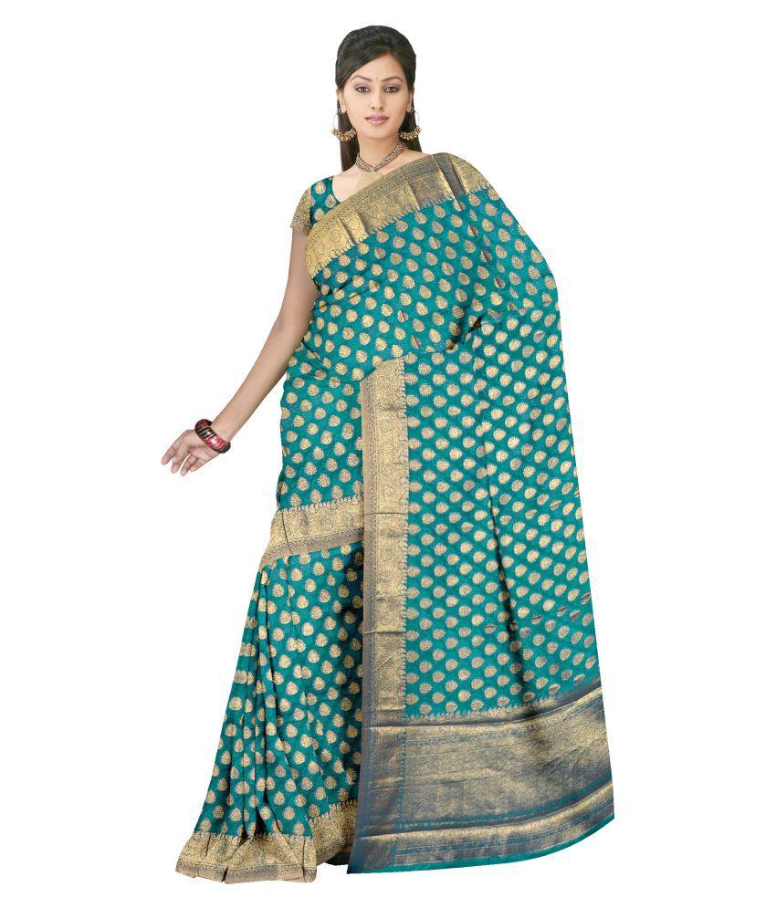 Ashk Sarees Green Silk Saree