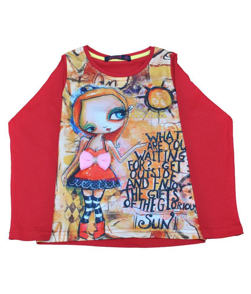 Ziama Red Pre Winter Printed Sweatshirt
