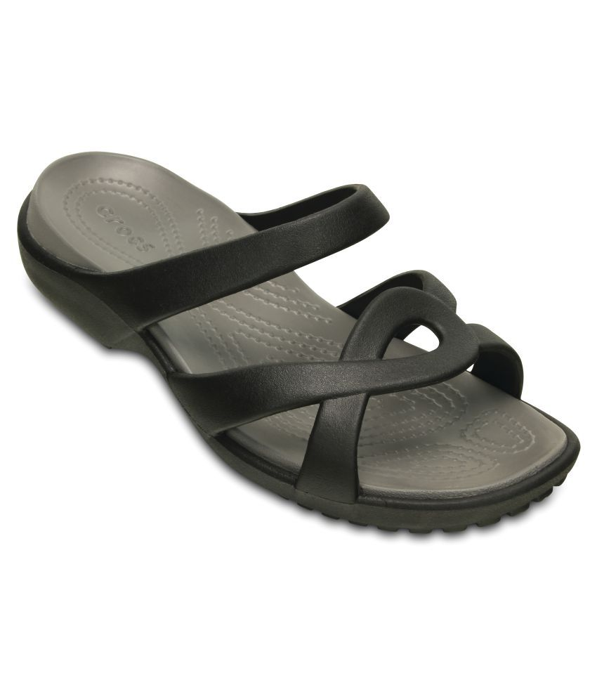 22b92bbe9 Crocs Black Slippers   Flip Flops Relaxed Fit Price in India- Buy Crocs  Black Slippers   Flip Flops Relaxed Fit Online at Snapdeal