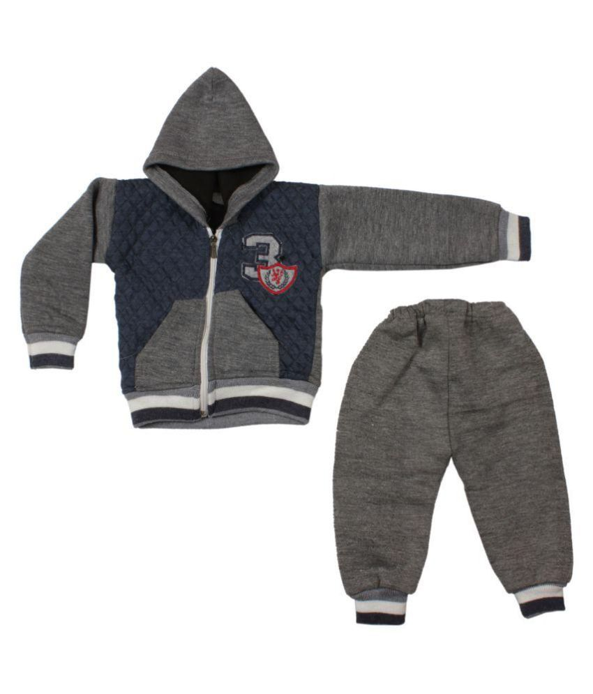 f51fd8539 Greentree Kids Woolen Winter Suit Baby Boys Girls Sweat Shirt Set ...