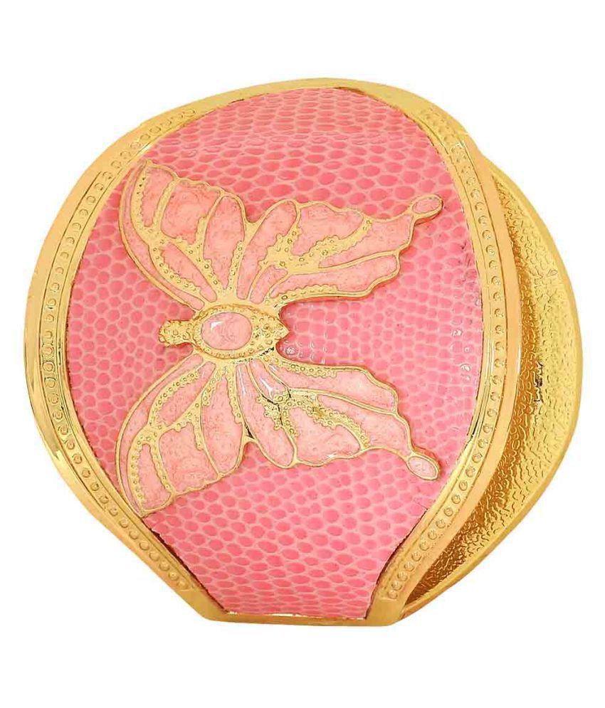 Maayra Pink Brass Cuff