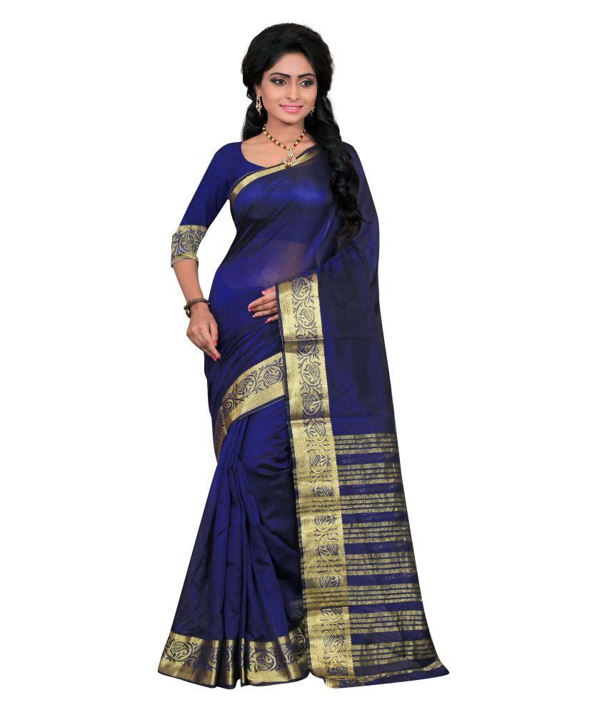 Saloni Designer Blue Art Silk Saree