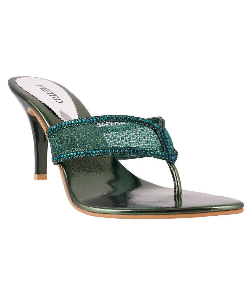 METRO GREEN Stiletto Heels