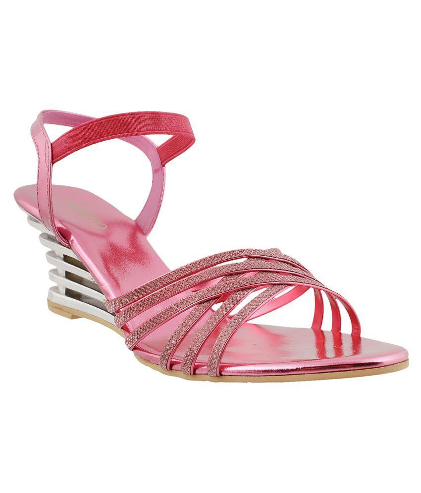METRO PINK Wedges Heels