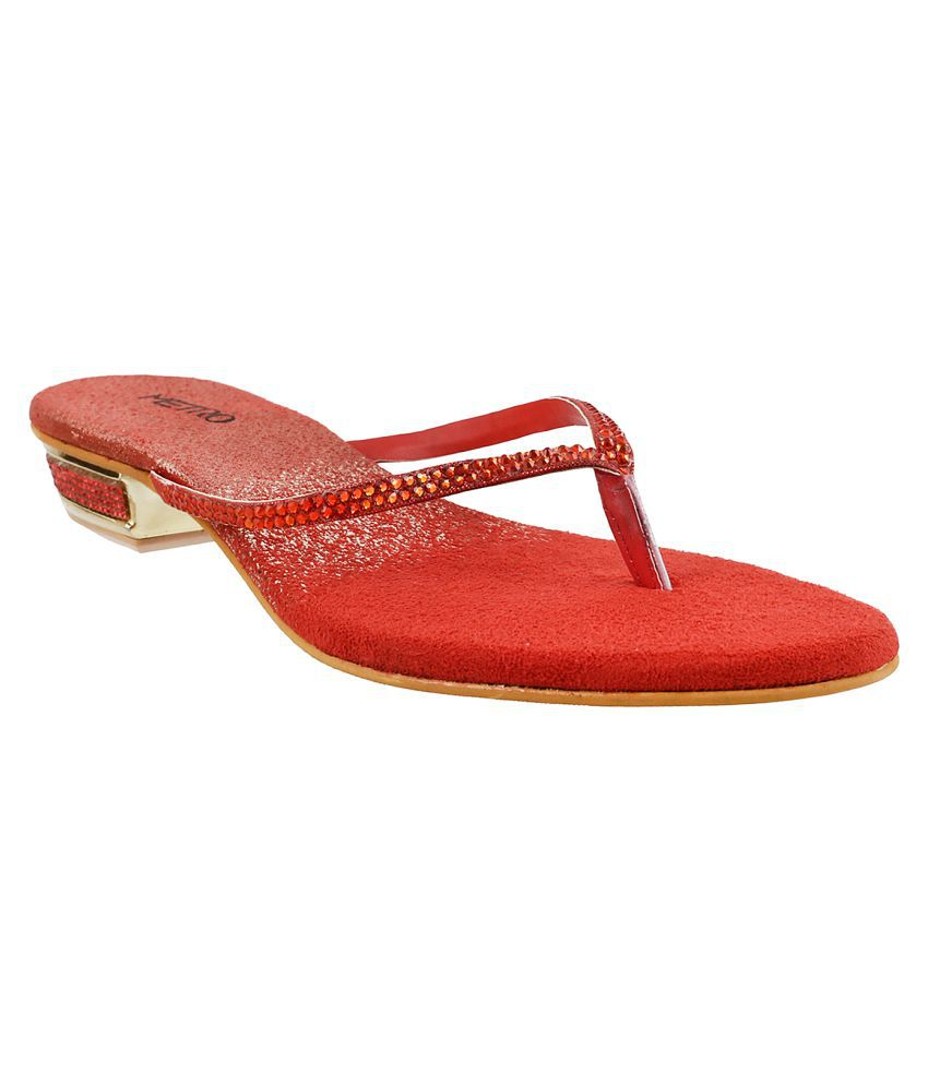 METRO RED Wedges Flats