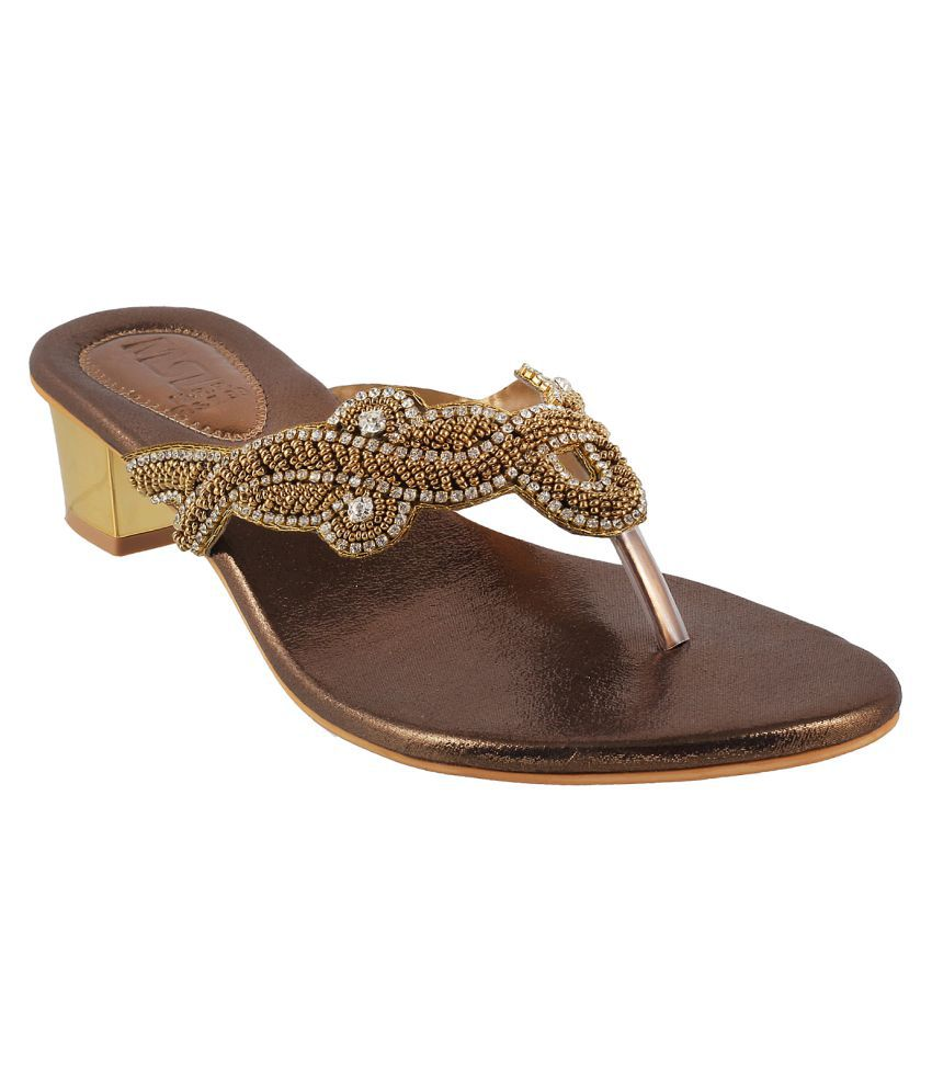MSL Brown Wedges Flats