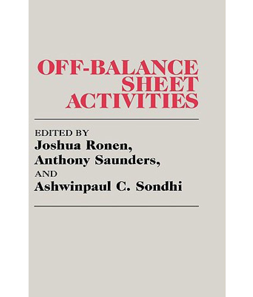 off balance sheet activities buy off balance sheet activities
