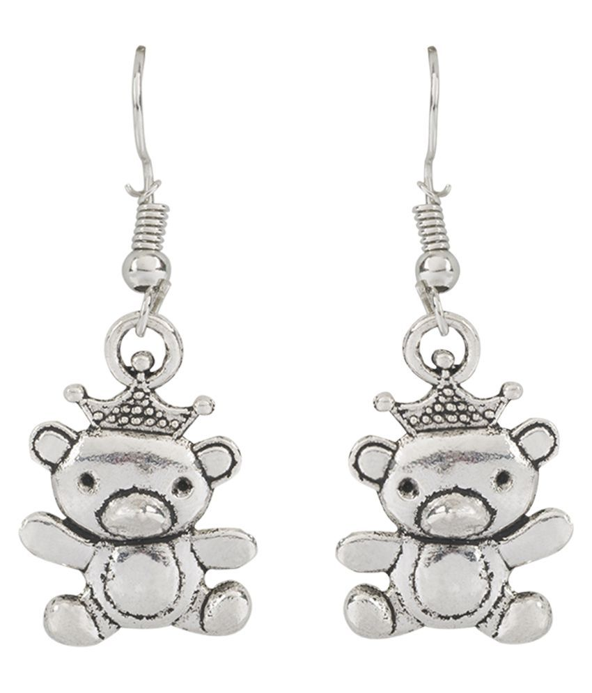 Panash German Silver Shine Contemporary Beads Hangings Earring for Women & Girls