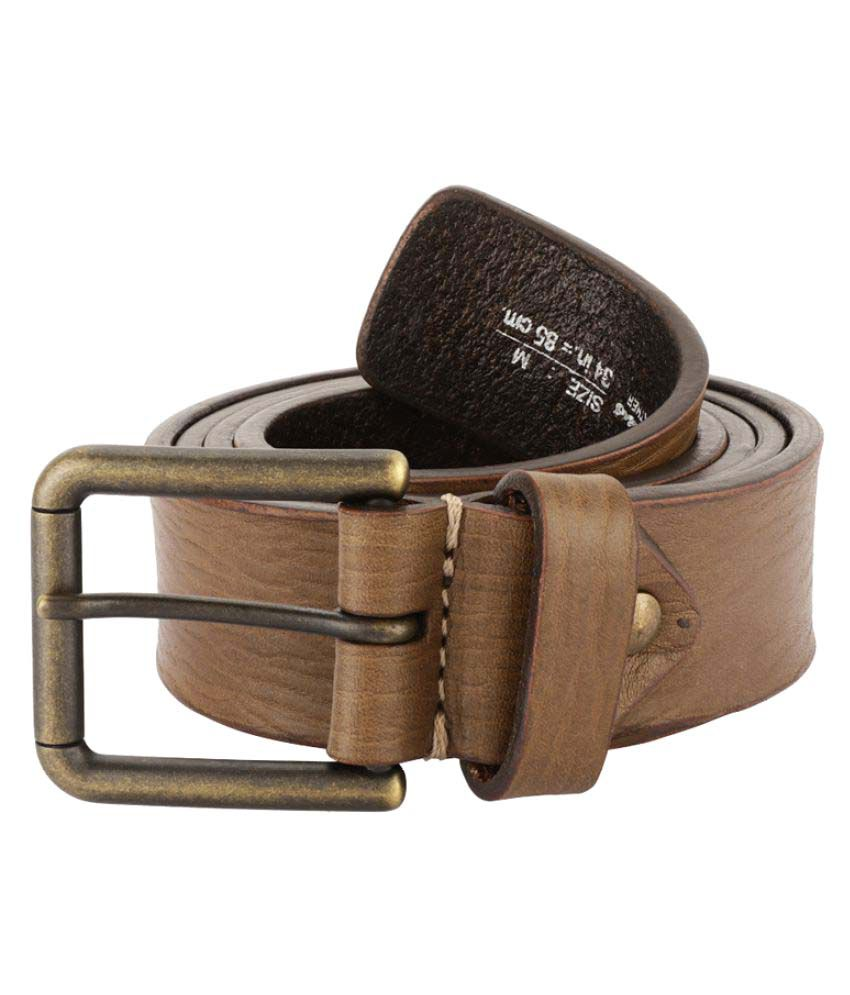 Color Plus Brown Leather Casual Belts