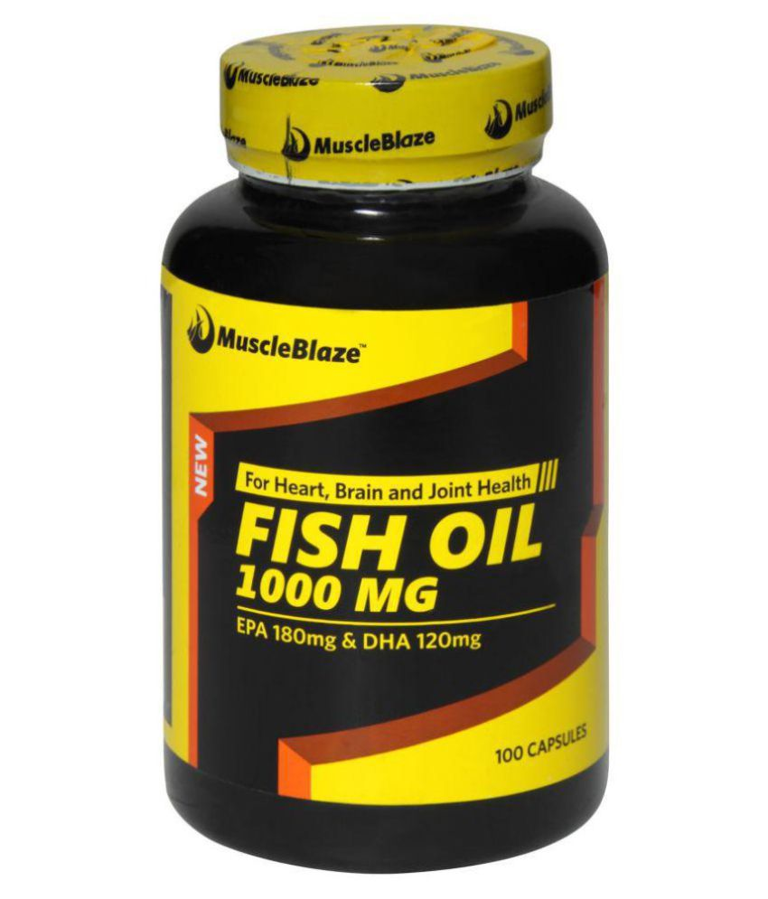 Muscleblaze omega 3 fish oil 1000 mg 180mg epa and 120mg for Epa dha fish oil