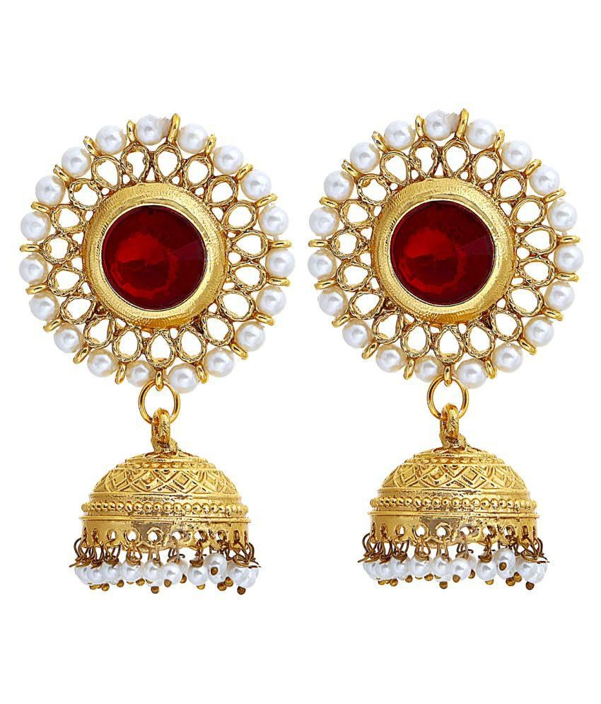 Om Jewells Gold Plated Jhumki