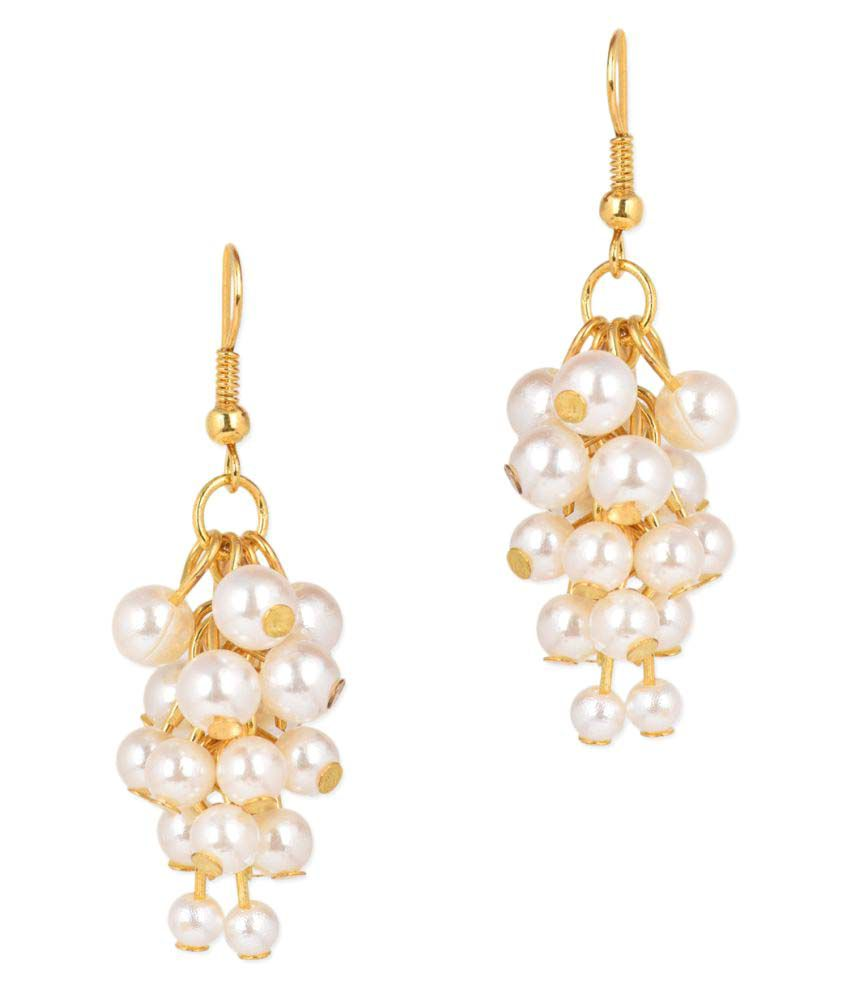 Jewelizer Golden Alloy Hanging Earrings