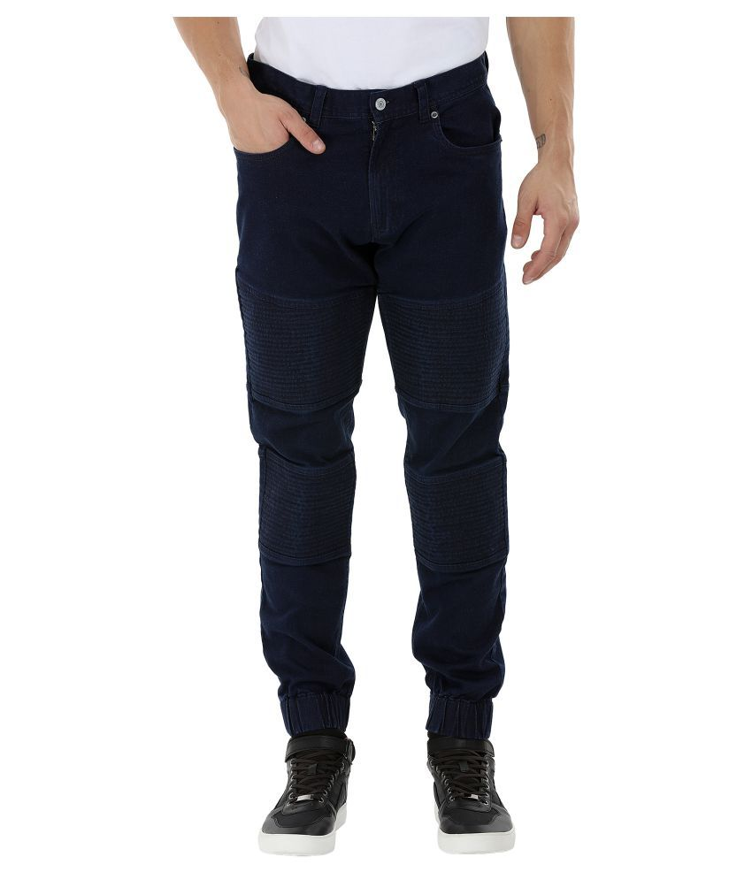 Zobello Blue Regular Flat Trouser