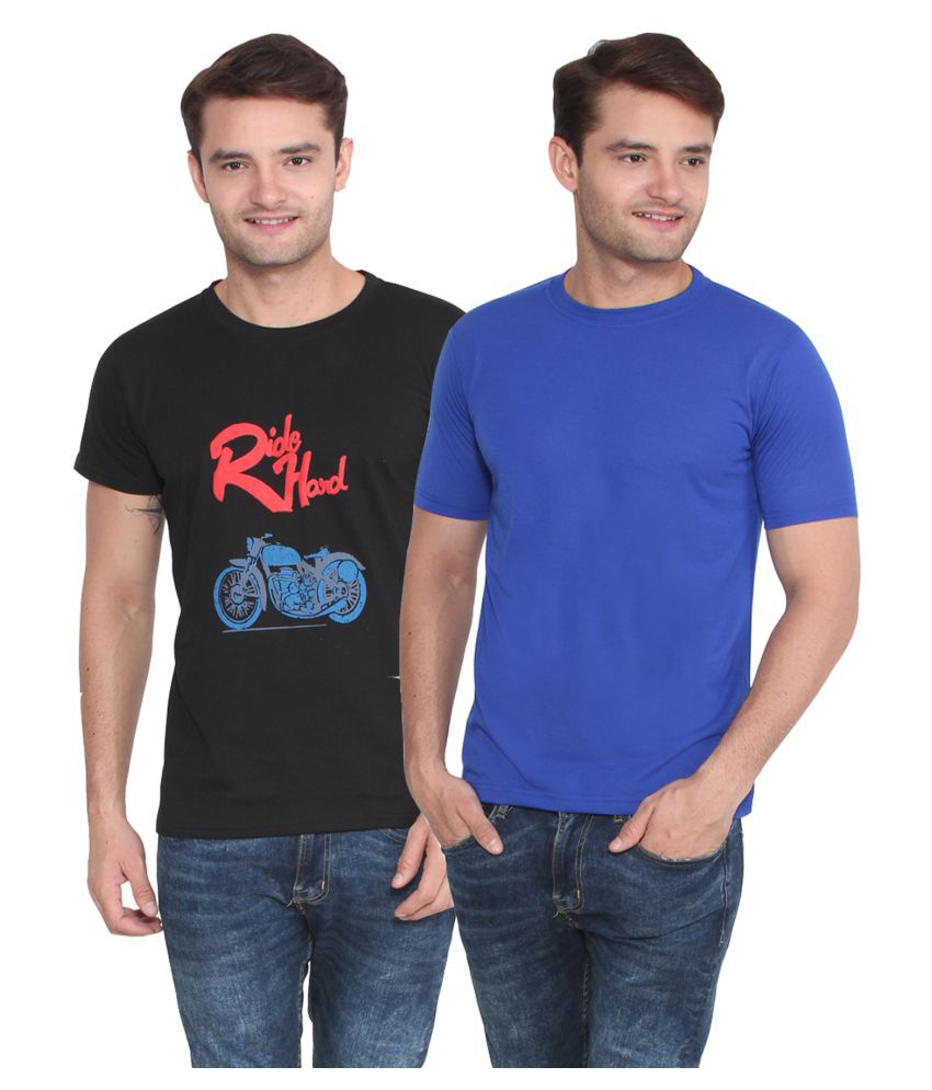 Attree Multi Round T-Shirt Pack Of 2