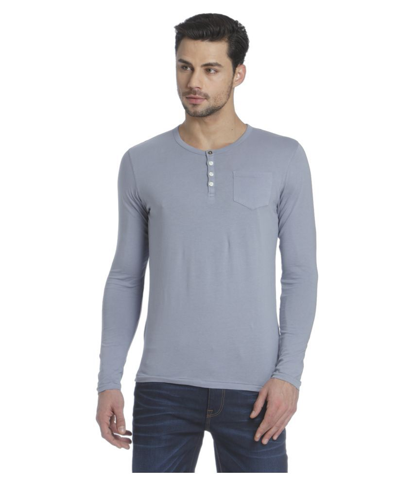 Jack & Jones Blue Henley T-Shirt