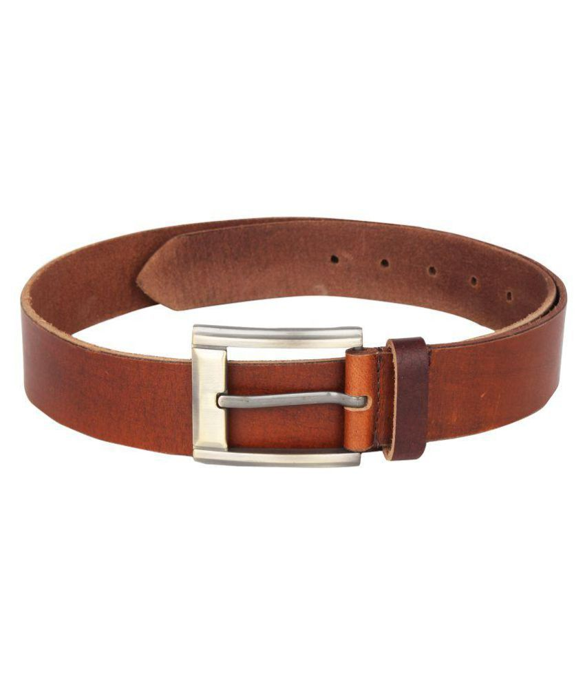 JX Brown Leather Formal Belts