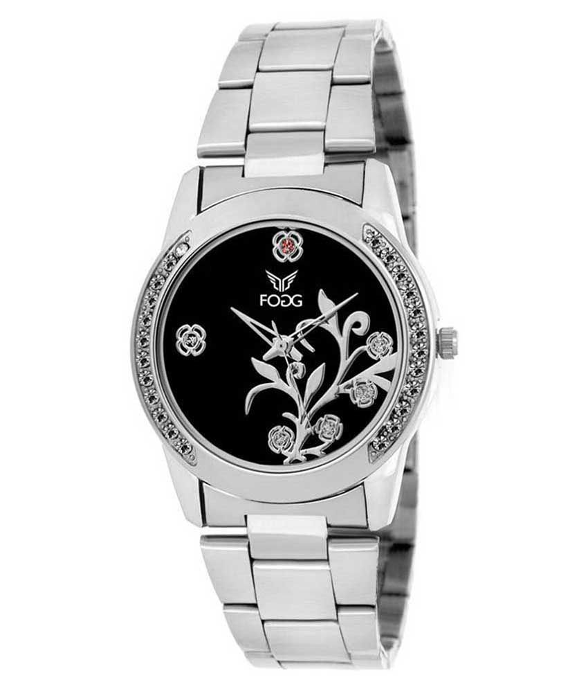 Fogg Silver Analog 4038-BK Women's Watch