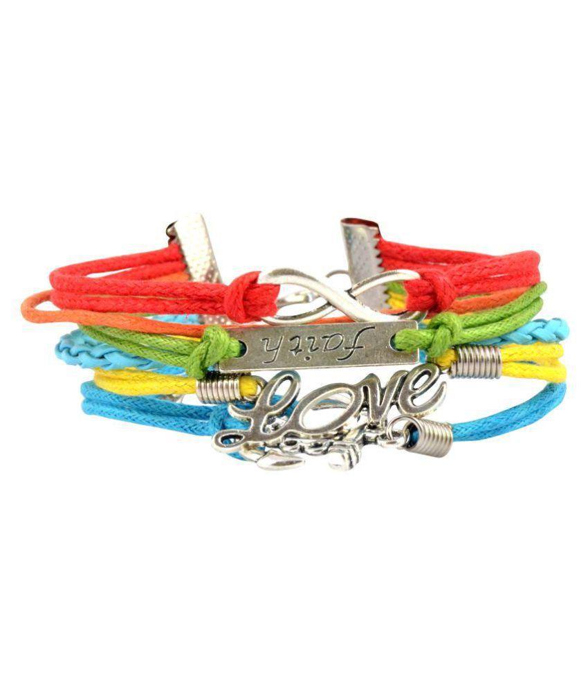 Alpha Man Multicolour Alloy Bracelet