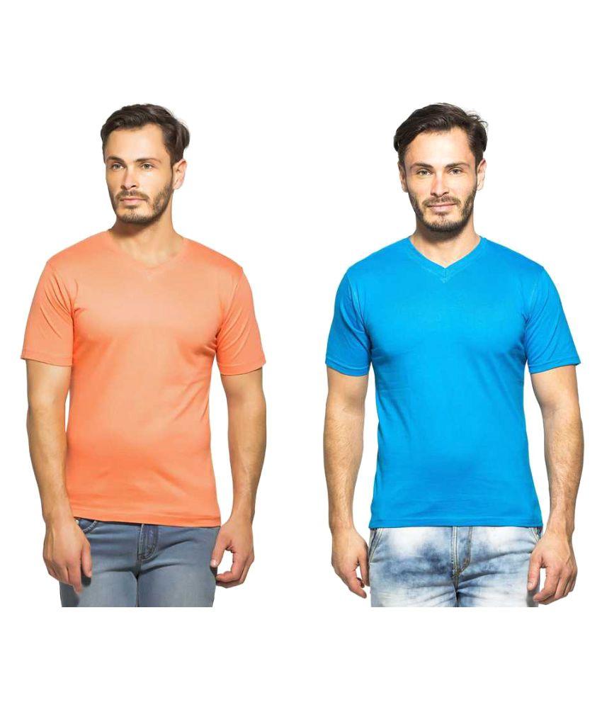 Clifton Multi V-Neck T-Shirt Pack of 2