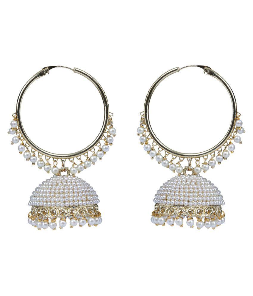 Panash Gold Grace Ethnic Pearl Jhumki Earring
