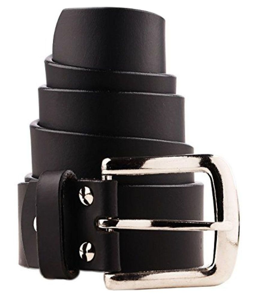 B&W Black Leather Formal Belts