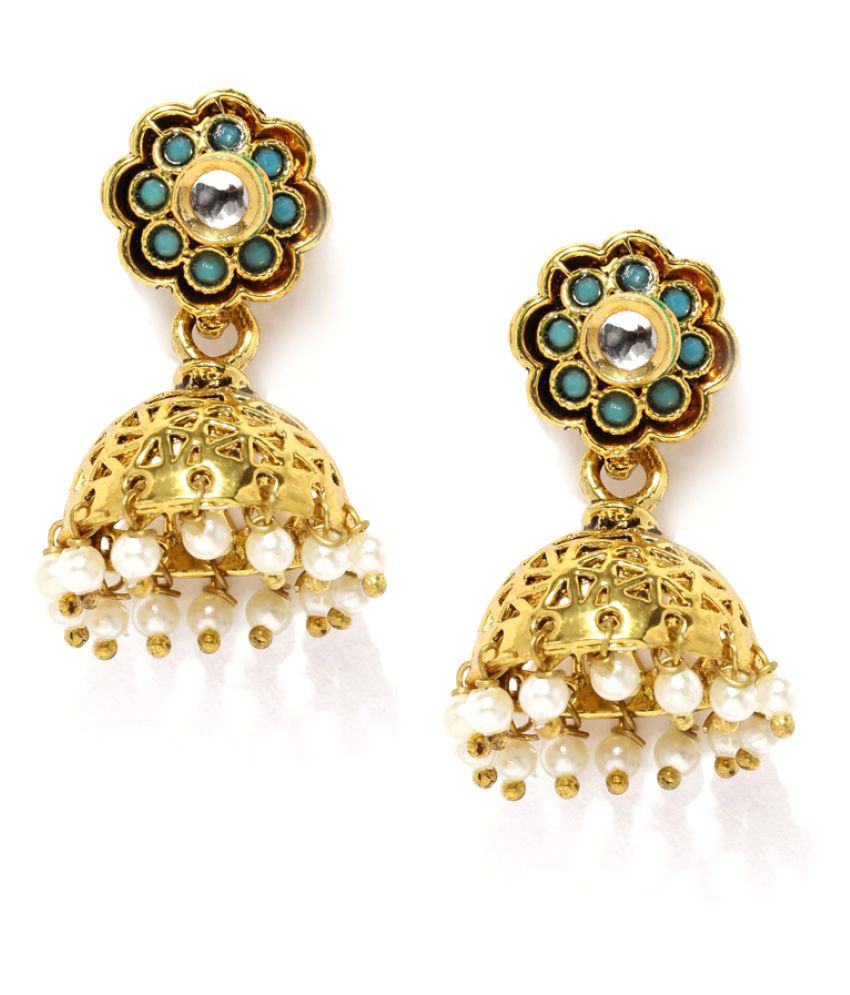 Zaveri Pearls Multicolor Jhumki Earrings