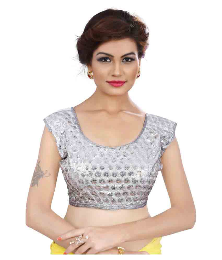52ec0899bd2ebc Dilsesale Silver Blouse - Buy Dilsesale Silver Blouse Online at Low Price -  Snapdeal.com