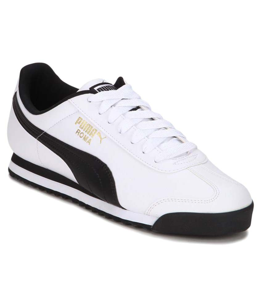 fbbf41a1c6df Puma Roma Sneakers White Casual Shoes - Buy Puma Roma Sneakers White Casual  Shoes Online at Best Prices in India on Snapdeal