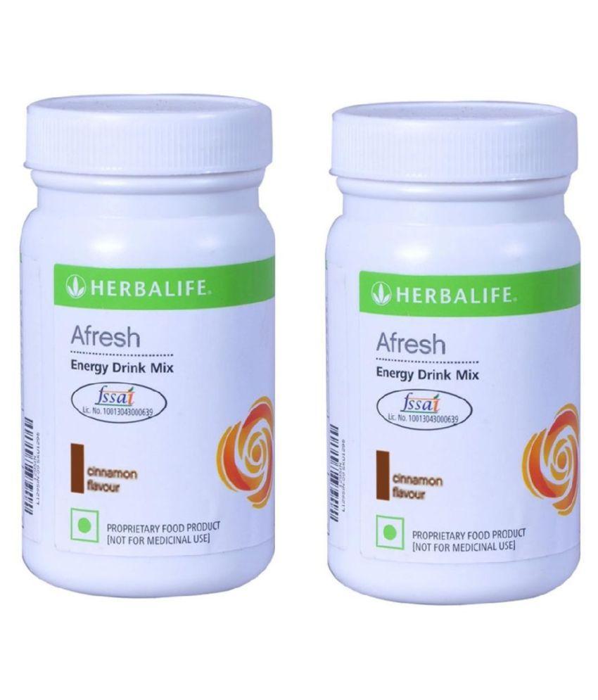 Herbalife Afresh Energy Drink Mix 50g Cinnamon Flavour Powder - Pack of 2