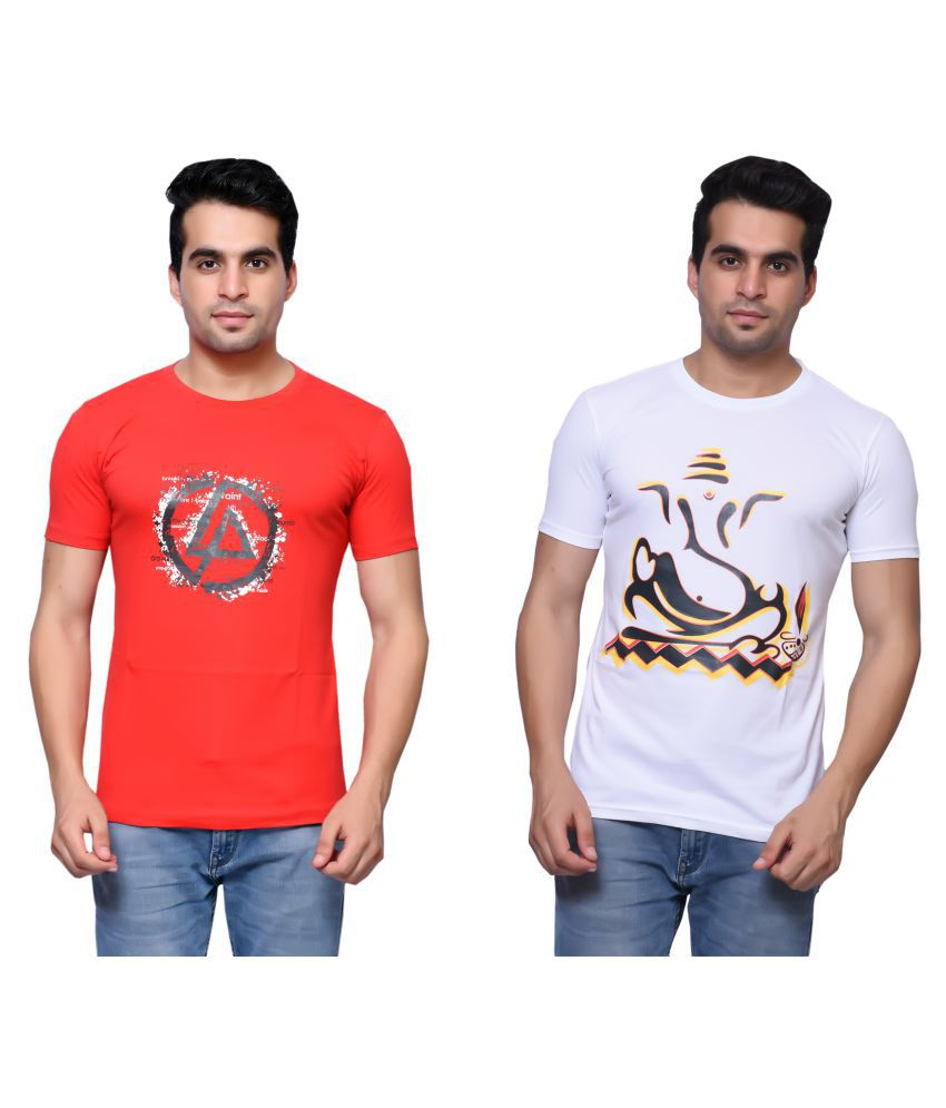 Oneliner Multi Round T-Shirt Pack of 2
