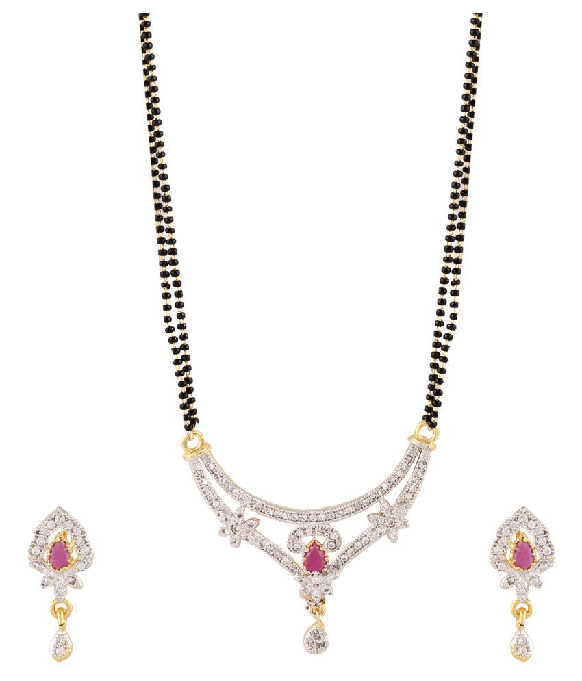 RZ Oddish Multicoloured Alloy Mangalsutra Set