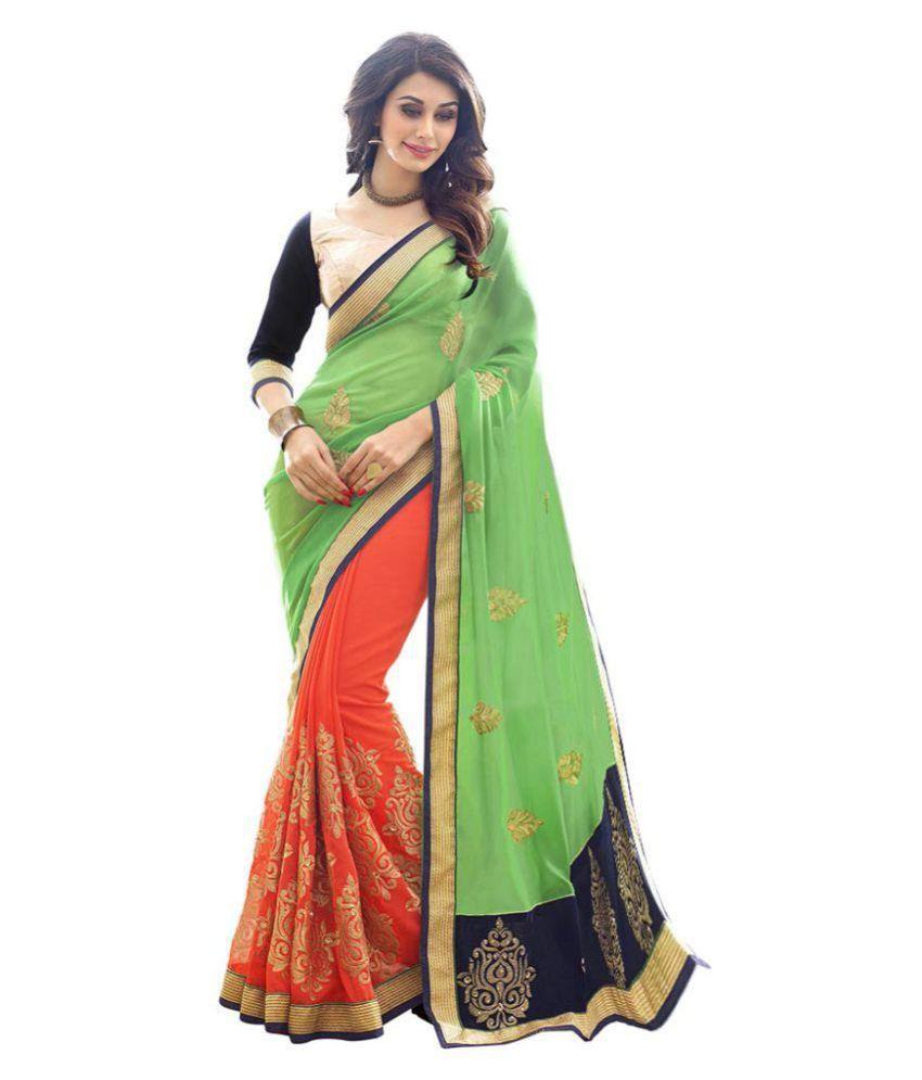 Chandra Industries Multicoloured Georgette Saree