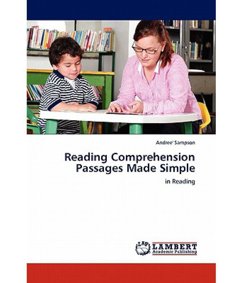 Worksheet Simple Reading Comprehension Passages reading comprehension passages made simple buy simple