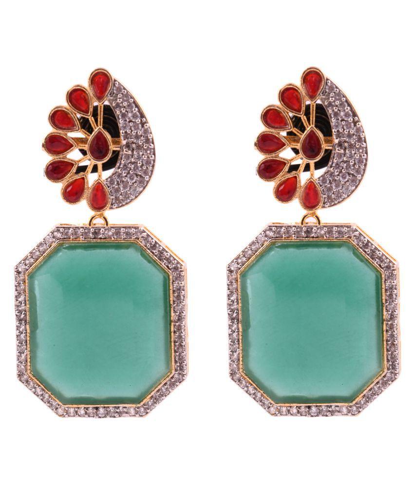 DLS Jewellery Multicolor Drop Earrings