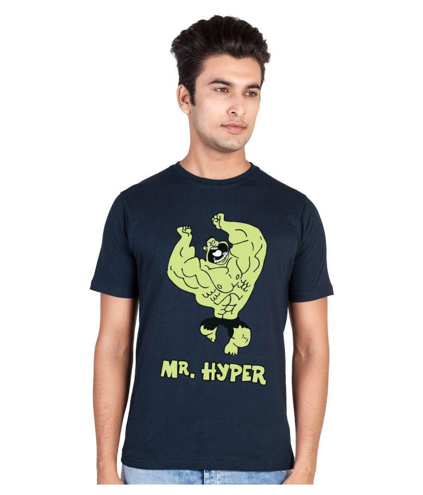 Hooboo Navy Round T-Shirt
