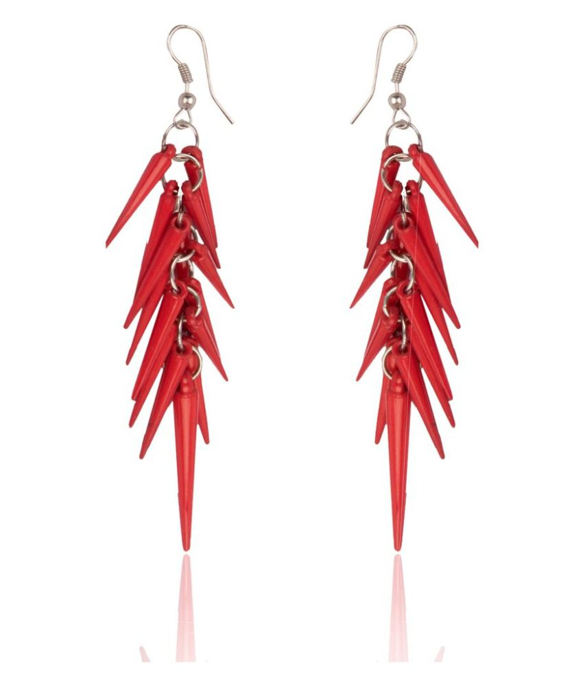 Diva Walk Red Hanging Earrings
