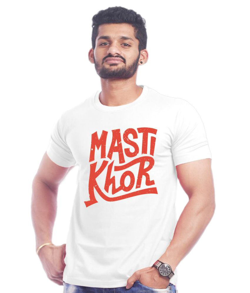 656a67123 High Five Clothing White Round T Shirt available at SnapDeal for Rs.499