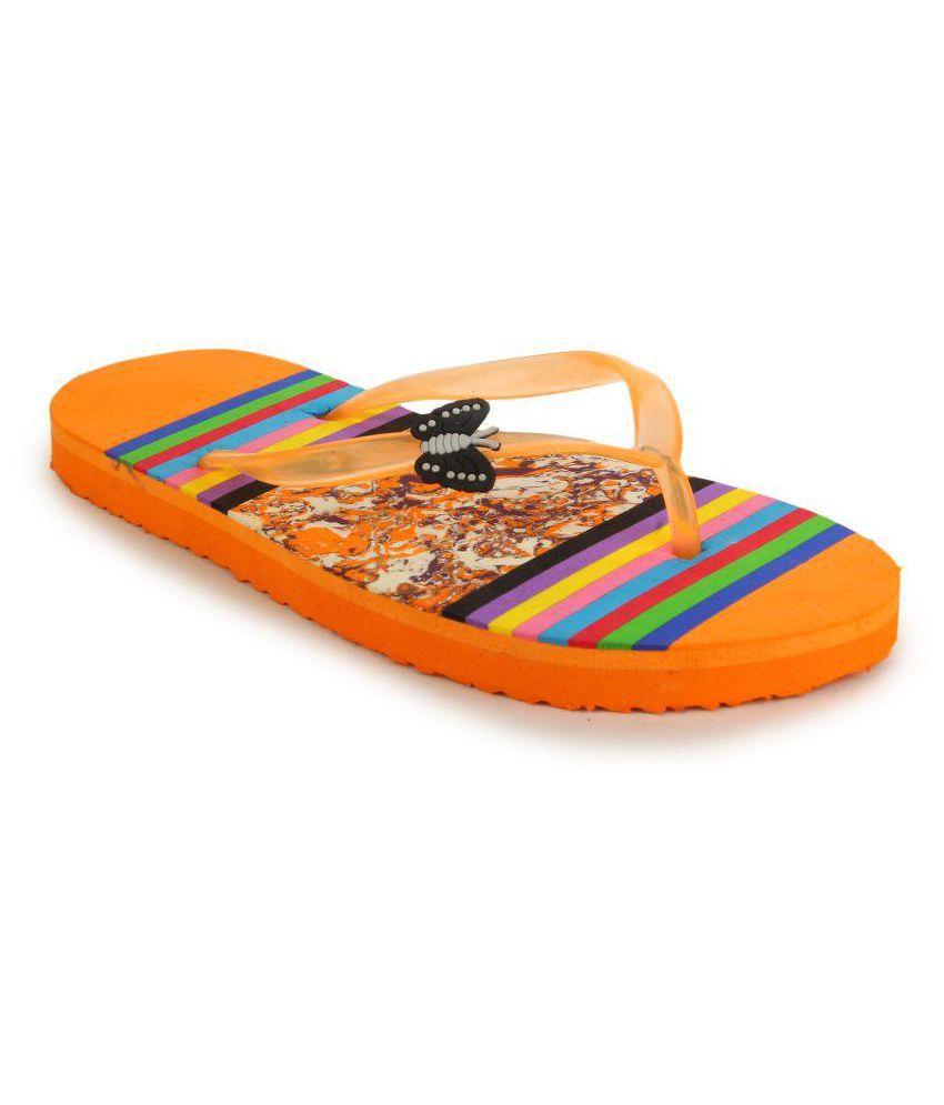 Fashion Victory Orange Slippers
