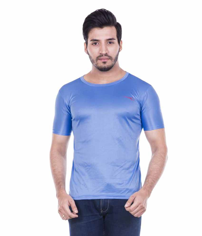 Roxy star Blue Round T-Shirt