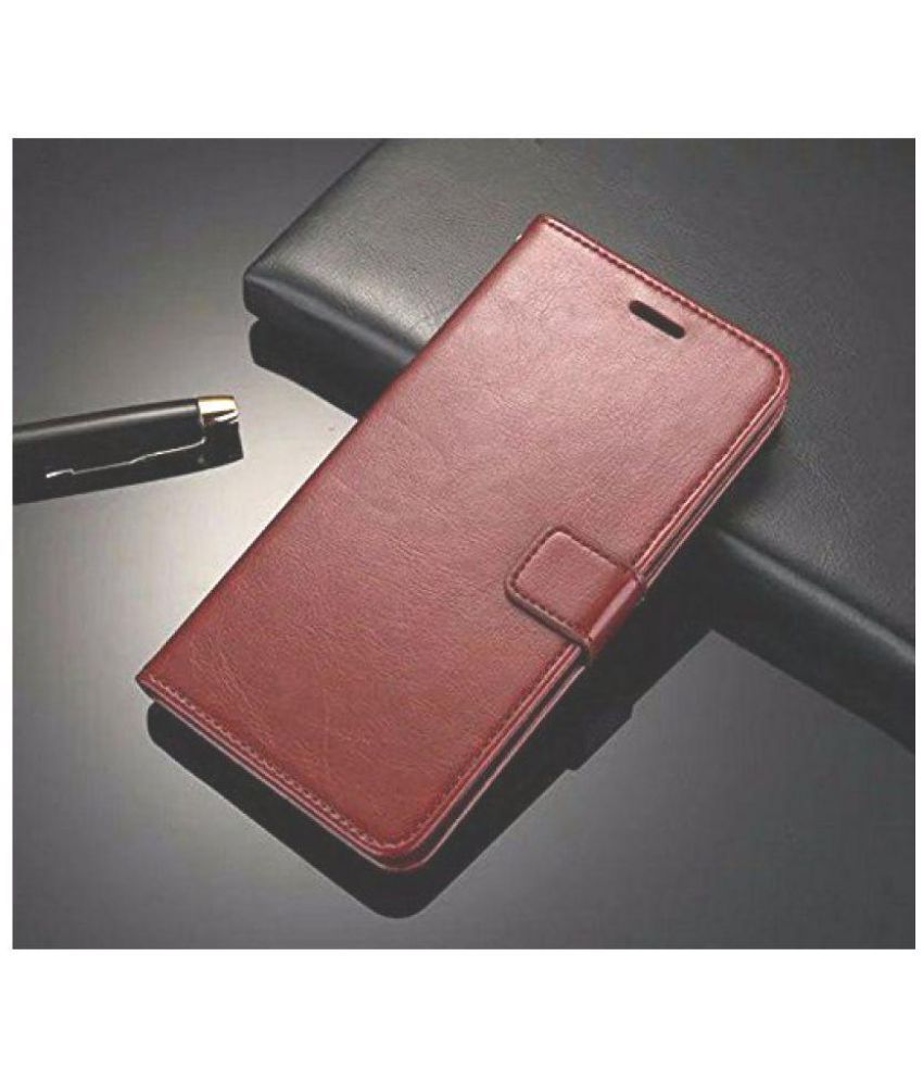 best service db33f 58a0d Oppo F1 Plus Flip Cover by NKARTA - Brown