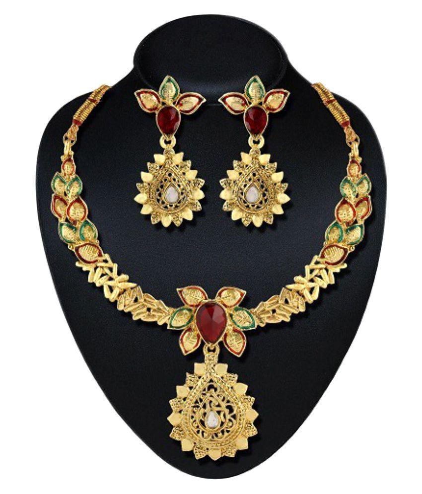 Gold Touch Golden Zinc Necklaces Set