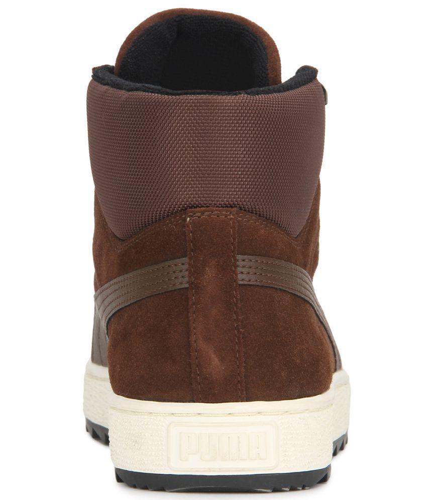 Puma Roma Basic Brown Casual Shoes - Buy Puma Roma Basic ... 6f28f379f