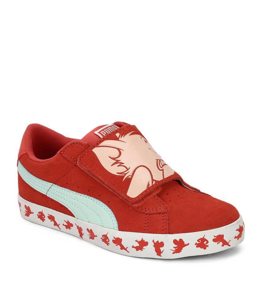 e13685a82dcec Puma Red S Vulc Tom   Jerry Kids Boy Sports Shoes Price in India- Buy Puma  Red S Vulc Tom   Jerry Kids Boy Sports Shoes Online at Snapdeal