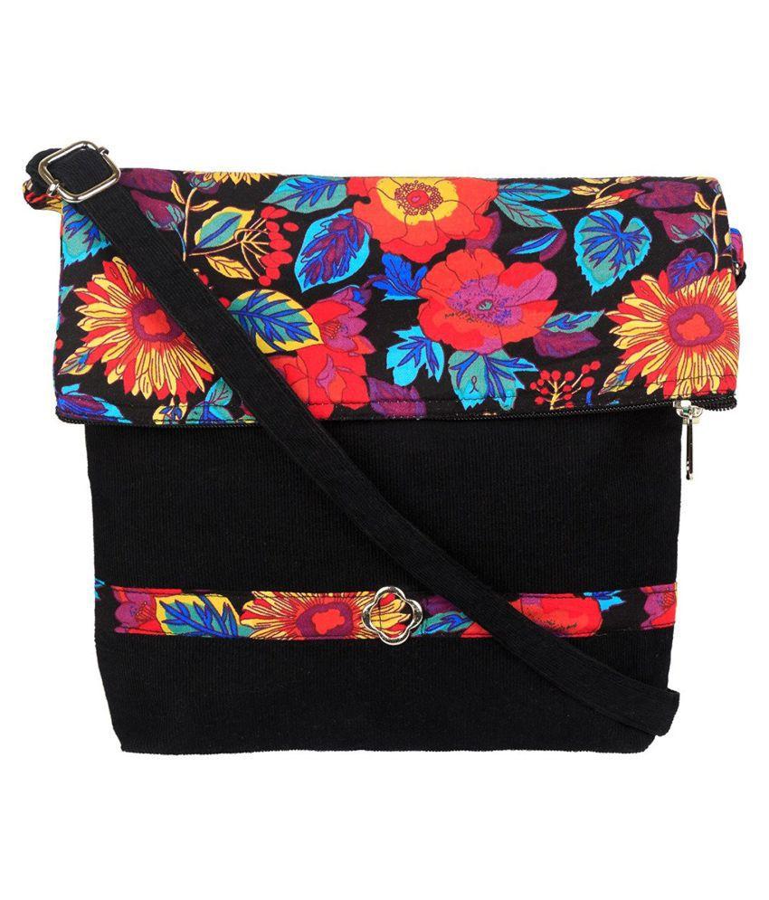 Avni Black Codury Sling Bag