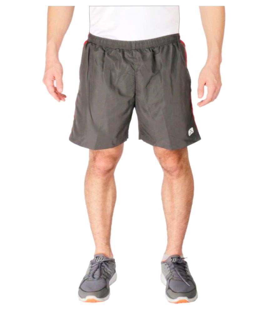 Vector X Solid Men's Grey Sports Shorts