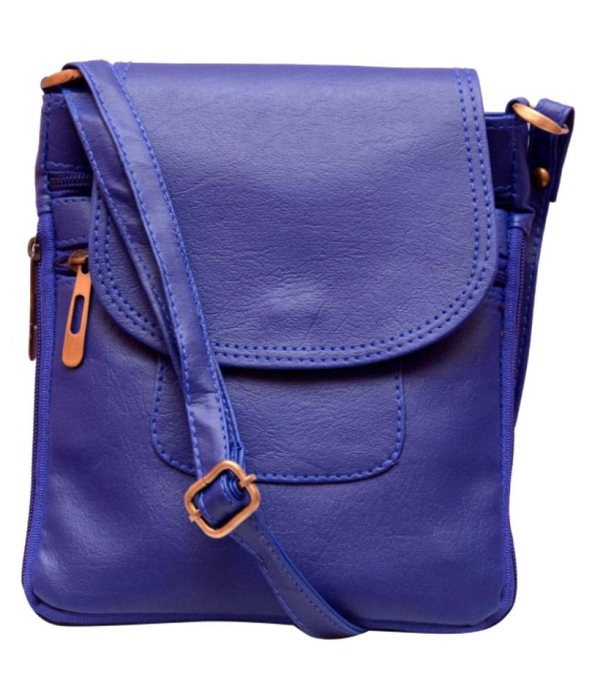 b3cd424aa3 Zevar Green Dark Blue Faux Leather Sling Bag - Buy Zevar Green Dark Blue  Faux Leather Sling Bag Online at Best Prices in India on Snapdeal